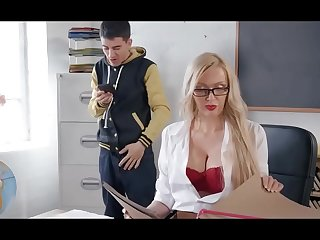 Naughty Jordi fucked unconnected with MILF teacher
