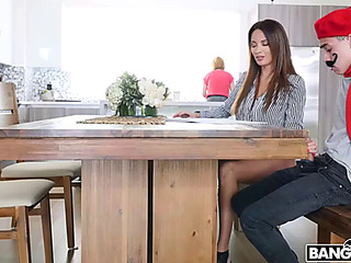 French trainer anissa kate seduces glamorous guy shy away from his mom's everywhere