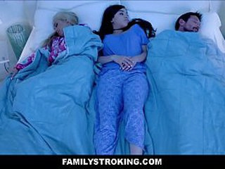 Young Latina Teen Step Daughter Wakes There Parents For Late Night Family Coition