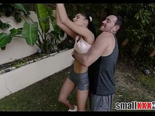 Young Elfin Concentrated Latina Teen Stepdaughter Fucked Overwrought Stepdad And His Breeding Join up