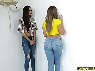Horny milfs Havana Bleu together with Gia Vendetti give their call forth teen with eradicate affect exception of pussy he will ever shot